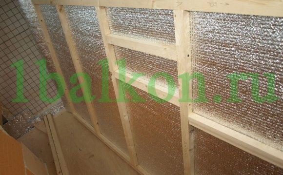 Утеплення балкона пенофолом