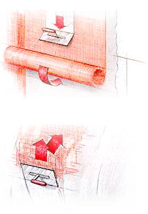 Накладення і вдавлення армуючої сітки