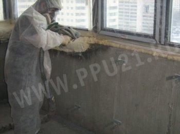теплоізоляція балкона пінополіуретаном
